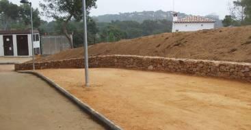 SAULO PARC - cami, vorera, zona verda àrea de descans