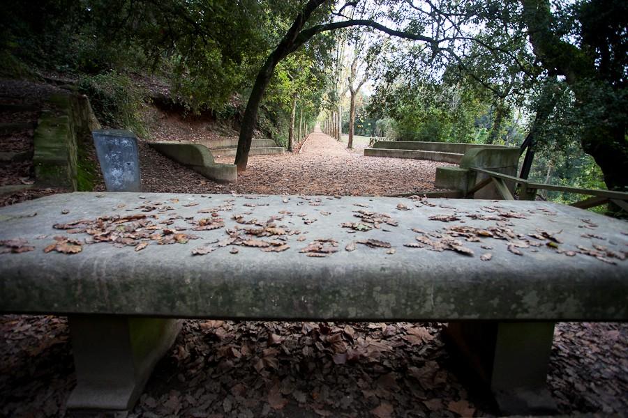 Aportació d'àrid Sauló Parc a un itinerari dins el parc de Collserola deBarcelona