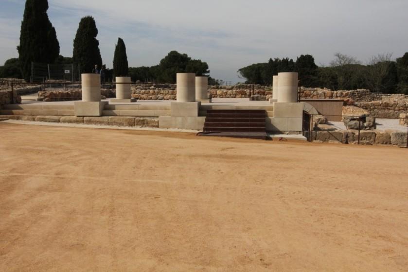Àrid Sauló Parc a les ruines arqueologiques de Empúries