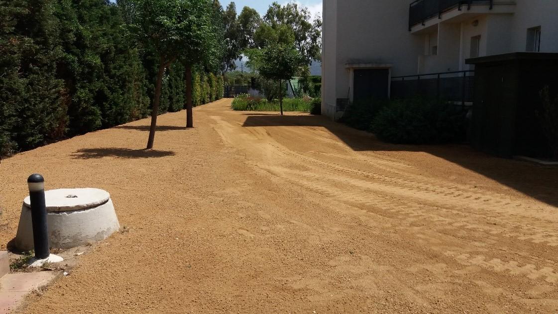 Adequació paisatgística del aparcament dels apartaments turísticsTerraza